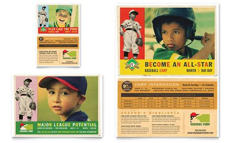 baseball sports camp flyer ad template word publisher