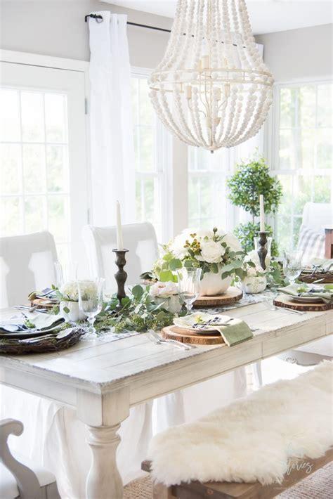 autumn farmhouse table black white and green farmhouse table setting