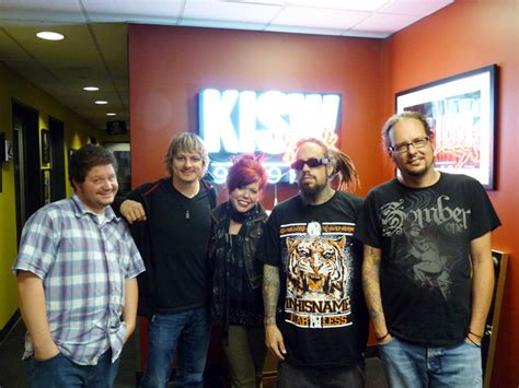 kisw mens room korn stops by kisw rock artist band and radio photos allaccess