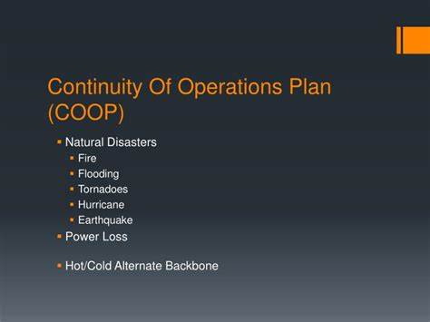 continuity of operations plan template ppt network domain powerpoint presentation id 5377192