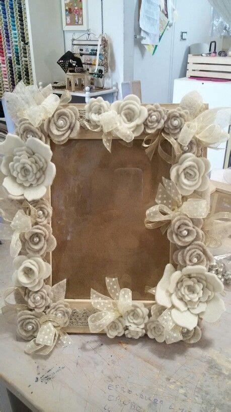 cornice con fiori cornice con fiori di feltro flower shabby