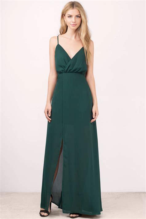 Greeny Maxi Dress green dress strappy dress forest green maxi dress