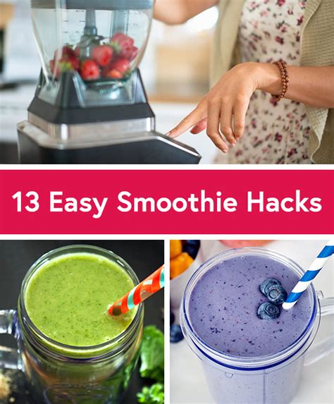 easy hacks 13 and easy smoothie hacks by daily burn