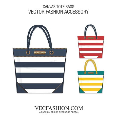 Canvas Tote Bags Vector Templates Vecfashion Tote Bag Template
