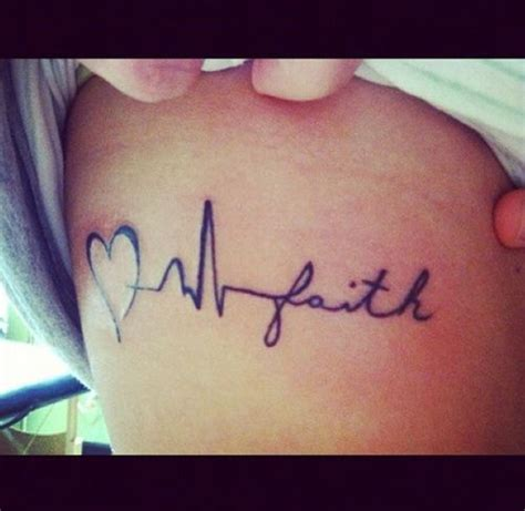 Heartbeat Tattoo On Ribs | heartbeat tattoo on ribs ink girly tattoos youqueen