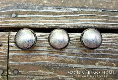 distressed nickel cabinet hardware weathered nickel rustic farmhouse knobs in