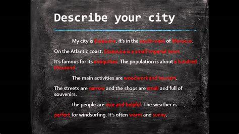 الدرس 12 describe your city