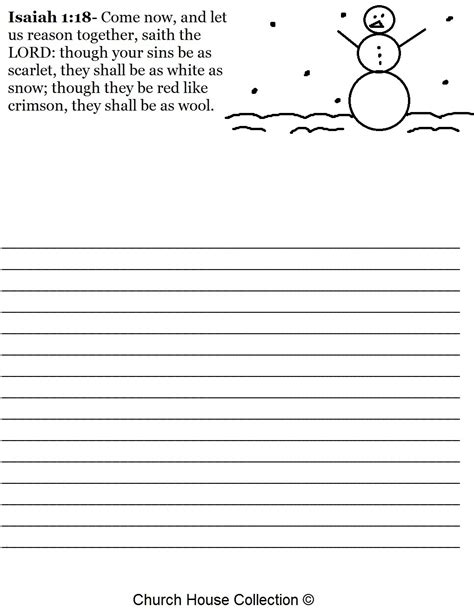 free printable snowman writing template free christmas snowman isaiah 1 18 writing paper printable
