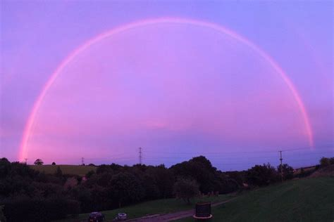 spectacular pink rainbow spotted  west  england