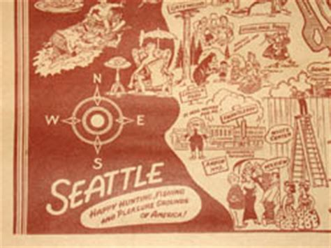 seattle map vintage george glazer gallery antique maps seattle pictorial