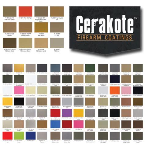 cerakote colors cerakote color chart coating information alpha tech