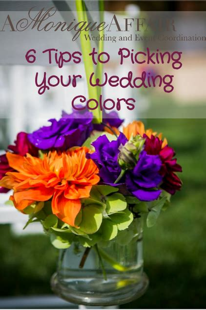 picking wedding colors 6 tips for choosing your wedding colors a affair