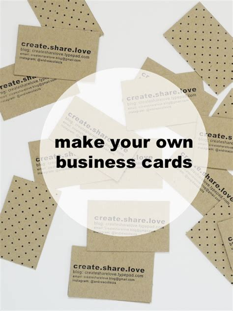 Handmade Cards Business From Home - 27 handmade items business cards create