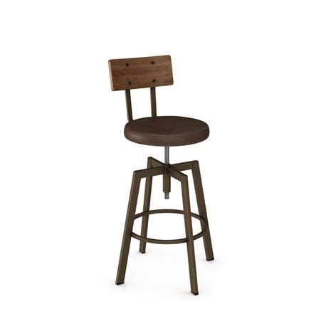 Amisco Architect Stool by Architect Stool Upholstered Seat 40263 By Amisco