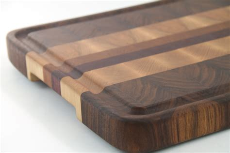 Handcrafted Woodwork - handcrafted wood cutting board end grain walnut cherry