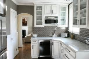 Backsplash For A White Kitchen by Gray Walls White Cabinets Tile Backsplash Love It All