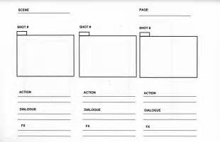 Storyboard Template Word by Horizontal Format