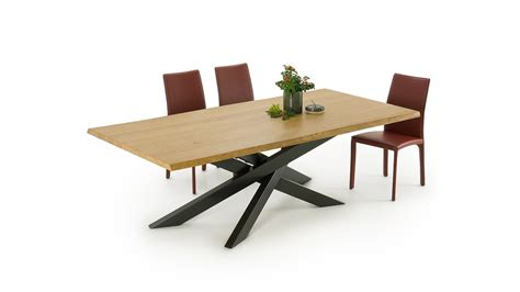 Crossed Leg Dining Table Connor Wood Crossed Leg Dining Table