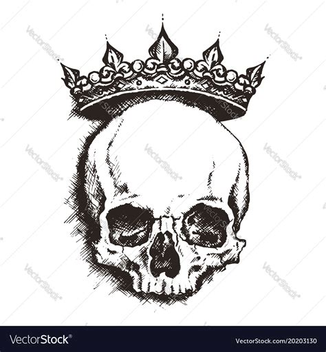 Go With Tarina Tarantios Skull Tiara by Sketch Skull With Crown Line