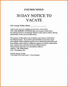 4 eviction notice template uk notice letter