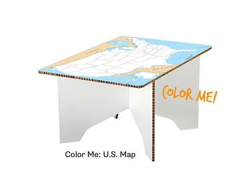 map coffee table color me u s map coffee table