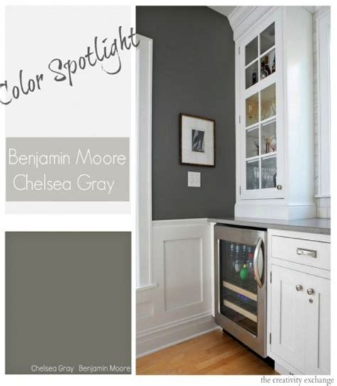 benjamin moore chelsea gray in a dining room with white cove ceilings best dark gray paint color 276 best paint colors images on pinterest wall colors