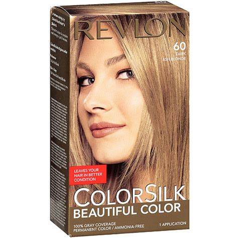 dark ash blonde revlon revlon colorsilk hair color dark ash blonde 1 kit by