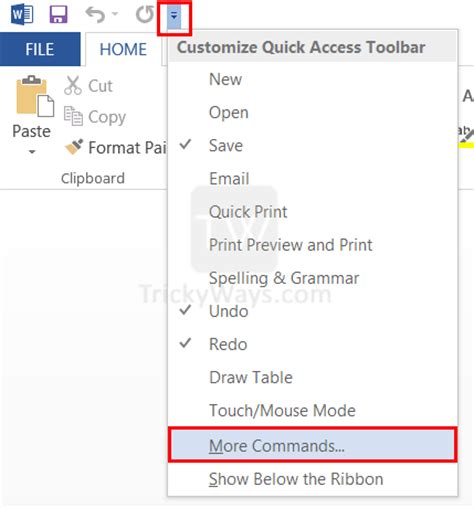 Quick Layout Command Word 2013 | email a document directly from word 2013 and excel office