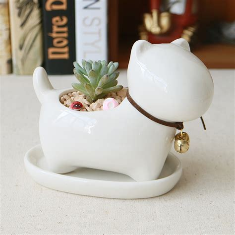 cute planters cute animal potted flowers gardening succulents planter