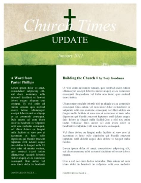 the church newsletter template template newsletter templates