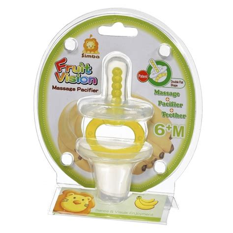 Simba Baby Pacifier 6m simba fruit vision pacifier yellow flat