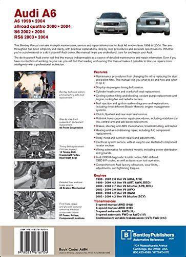 Reparaturanleitung Audi A6 4b by Audi A6 C5 Service Manual 1998 1999 2000 2001 2002