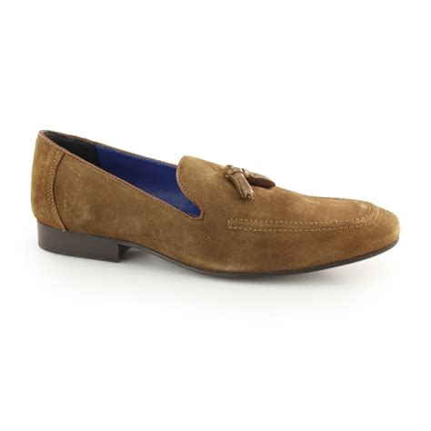 mens suede loafers with tassels apsley mens suede leather tassel loafers