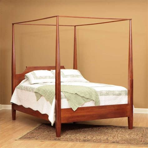 english shaker rustic cherry poster canopy bed amish furniture solid wood mission shaker