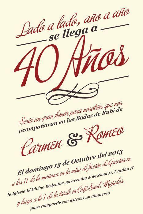 bodas de ruby dise 241 o de invitaci 243 n event design salvador and bodas