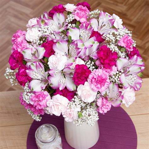 mystique pink bouquet flowers by post bunches co uk - Flowers By Post
