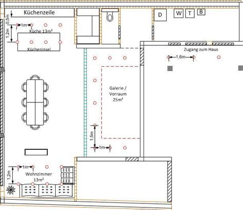 Einbaustrahler Decke Anordnung by Innenbeleuchtung Bauforum Auf Energiesparhaus At