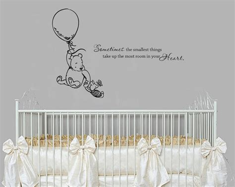 Classic Winnie The Pooh Wall Decals For Nursery Classic Winnie The Pooh Sometimes The Smallest By Grabersgraphics