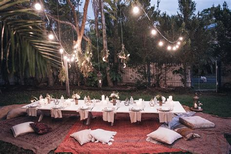 backyard dinner party ideas how to arrange boho backyard dinner party ideas