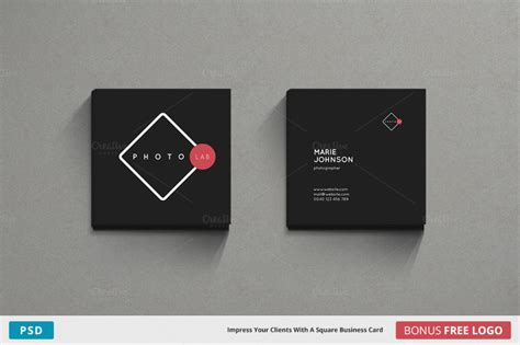 square card templates square business card template photoshop gallery card