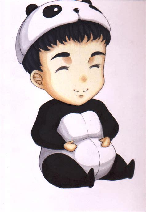 chibi panda boy by rairaiven on deviantart