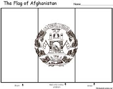 Afghanistan S Flag Enchantedlearning Com Afghanistan Flag Coloring Page