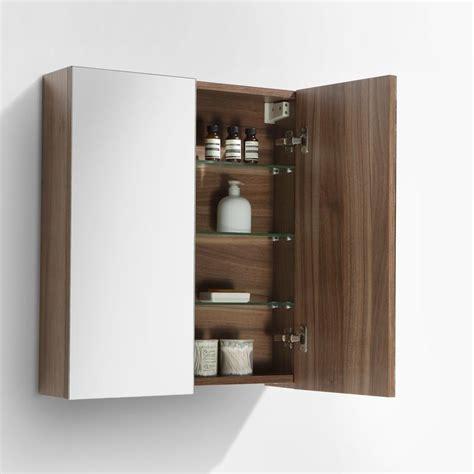 armoire largeur 60 cm armoire de toilette bloc miroir siena largeur 60 cm noyer