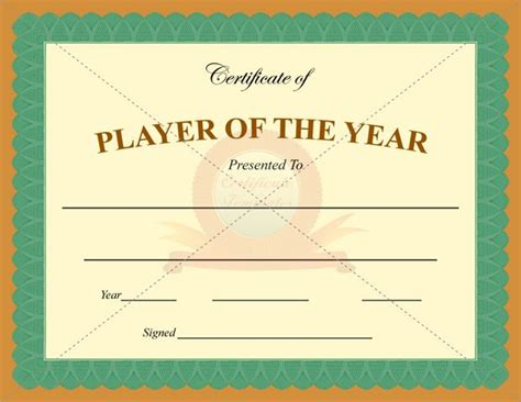 player of the day certificate template 17 best images about sports certificate templates on