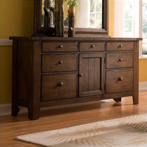 Attic Heirlooms Dresser by Attic Heirlooms 7 Drawer Door Dresser In Oak 4399 32