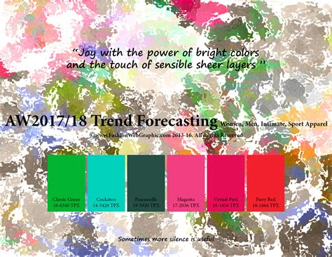color forecast 2017 aw2017 2018 trend forecasting on behance