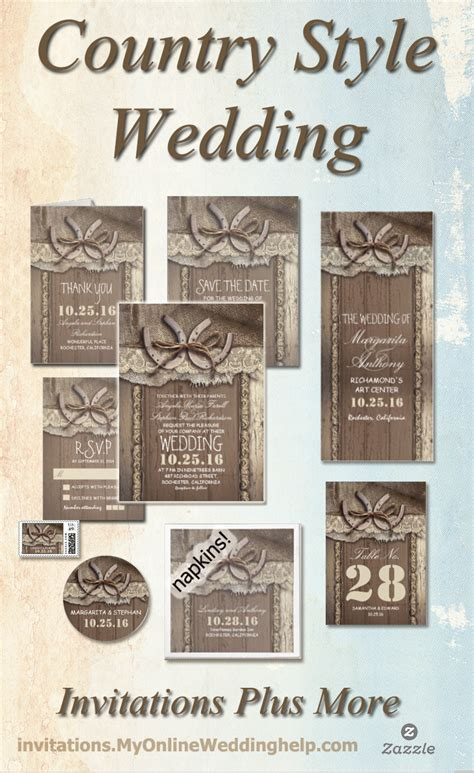 country style invitations rustic wedding invitations