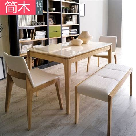 nordic combination of solid wood dining tables and