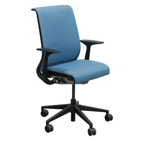 steelcase think used conference chair light blue