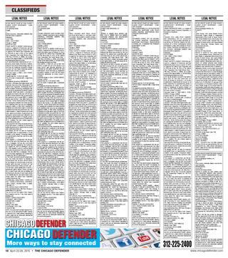 1 south wacker drive 24th floor chicago il 60606 chicago defender issue released april 22 2015 by
